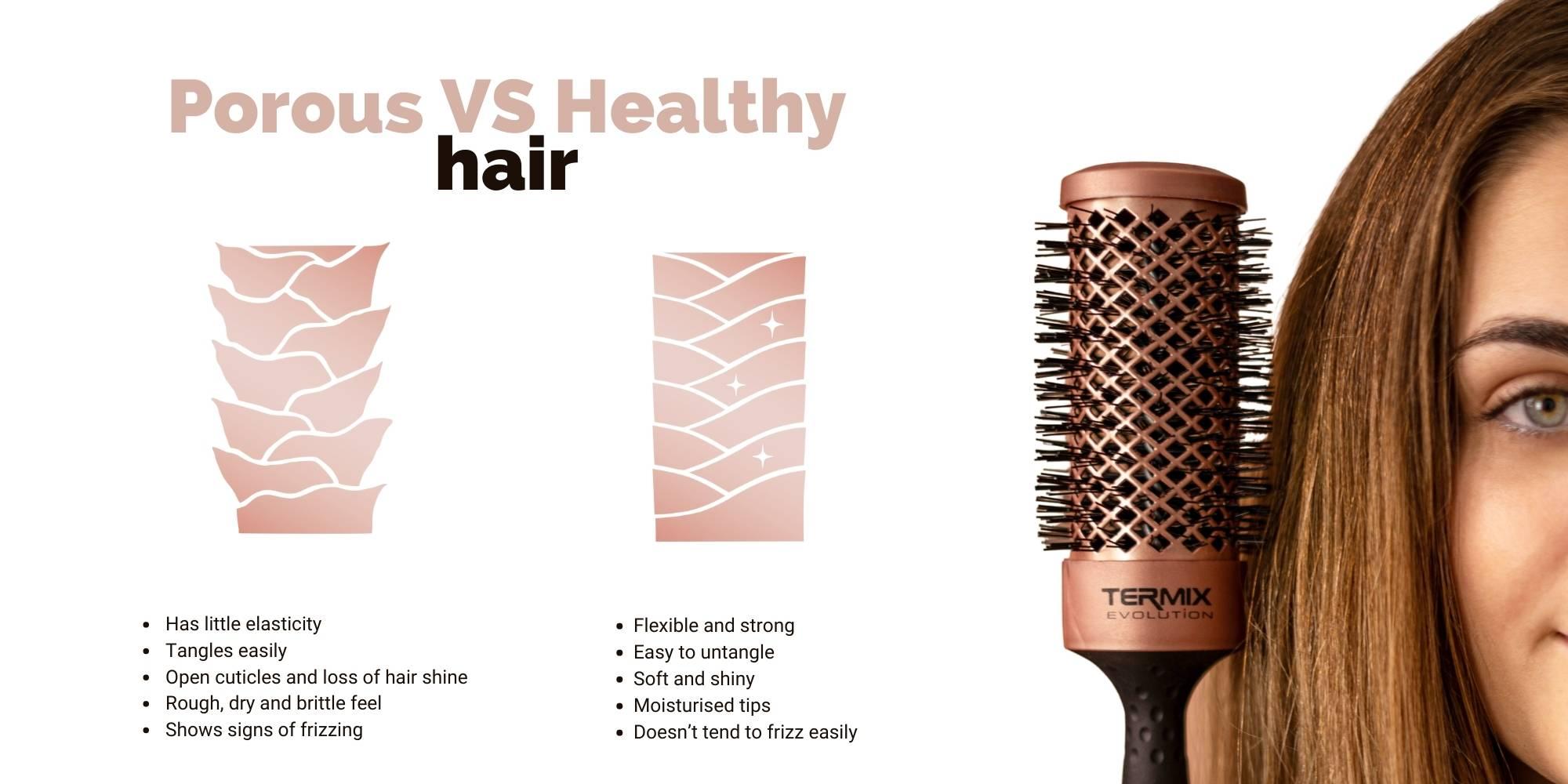 Porous vs healthy hair