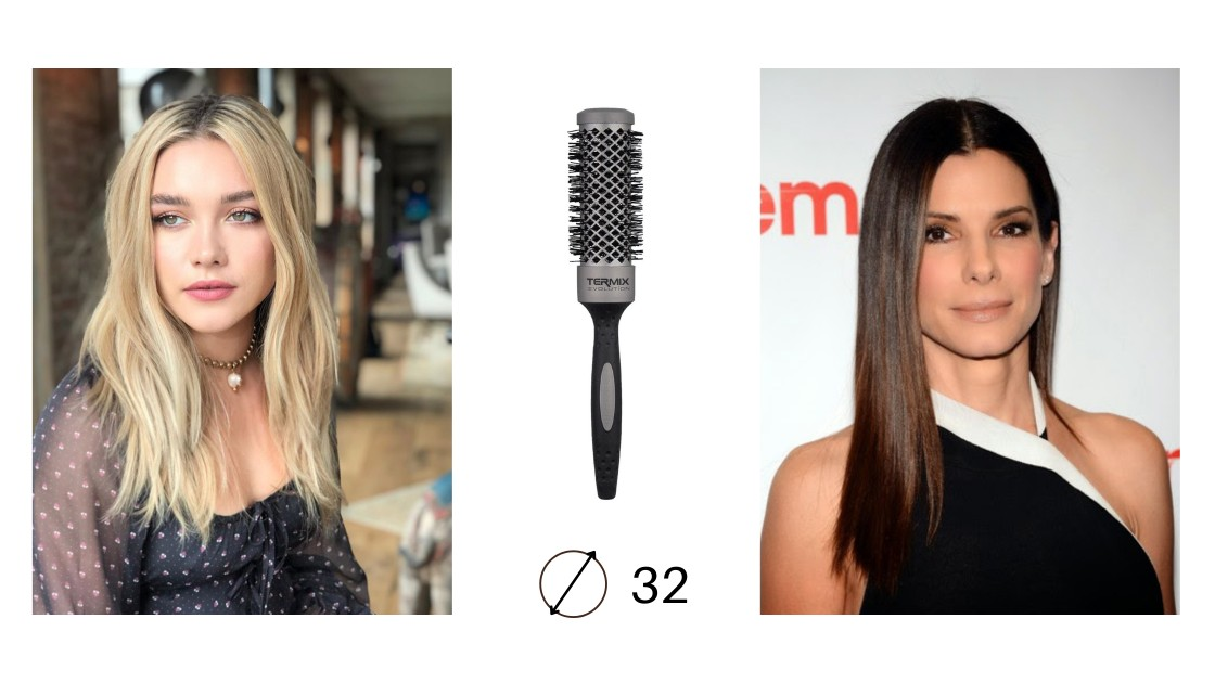 Ejemplos de Peinados con Cepillo Evolution Basic 32