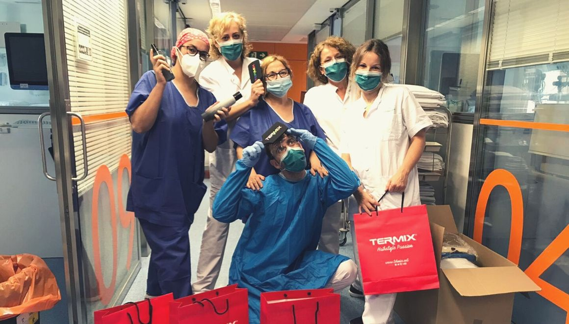 El equipo del Hospital CLinic con productos Termix