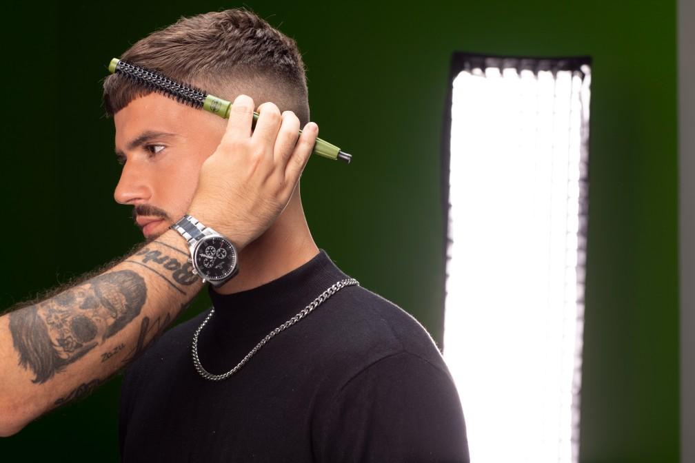 Cepillo redondo de la gama barber de Termix para cabellos masculinos