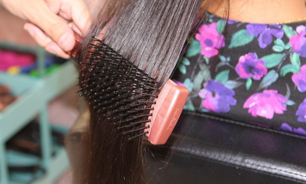Cepillo plano térmico Termix Gold Rose peinado cabello rizado
