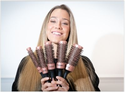 Cepillo redondo profesional Termix Evolution Gold Rose para cabellos secos