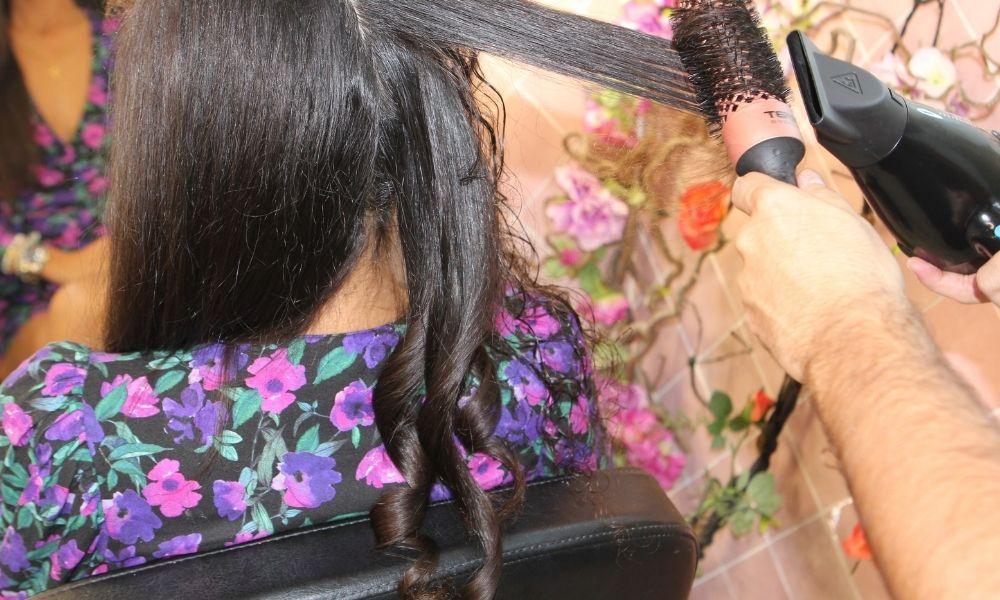 Cepillo redondo térmico Termix Gold Rose peinado cabello rizado con secador