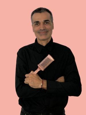 el estilista Fermin Diaz recomienda los cepillos Gold Rose de Termix