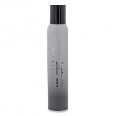 Spray para el cabello para dar un efecto brillante