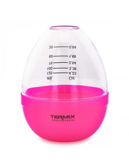 Coctelera rosa para tinte