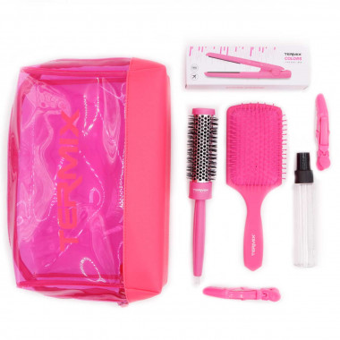 MIni plancha de pelo rosa inalámbrica con USB