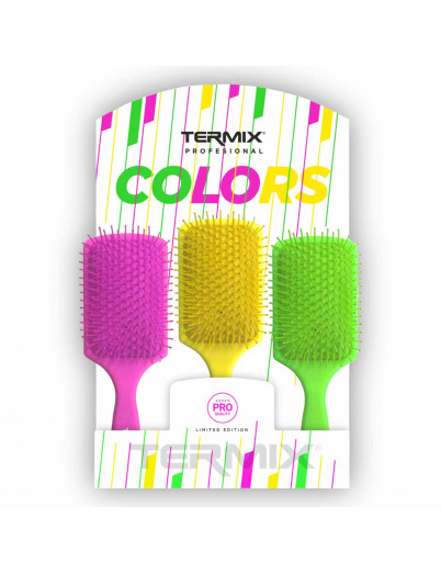 Display 12 Hairbrushes Termix Color Paddles