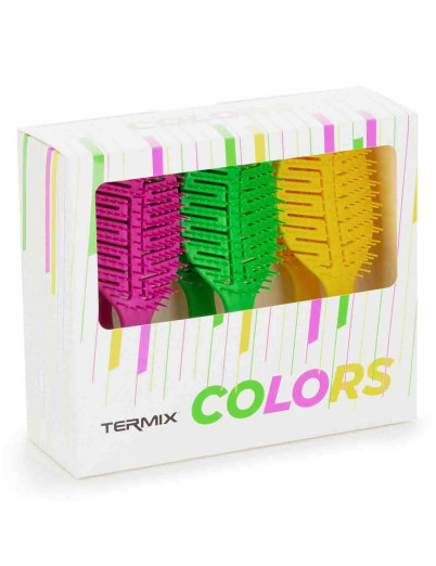 Expositor 6 Cepillos Detangling Termix Color