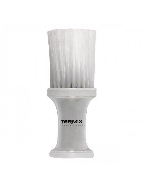 Cepillo de talco profesional transparente Termix - fibra blanca