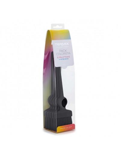 Pack Colorista Termix - 6 paletinas negras con fibra suave